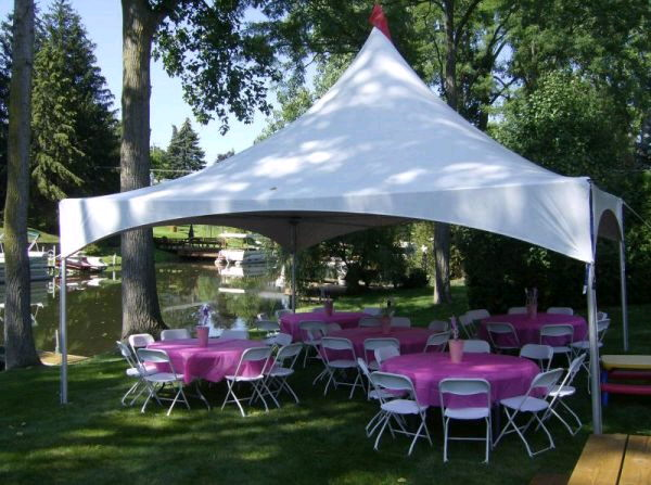 Where to find TOPTEC FRAME TENT 20 X 20 in Homer Glen